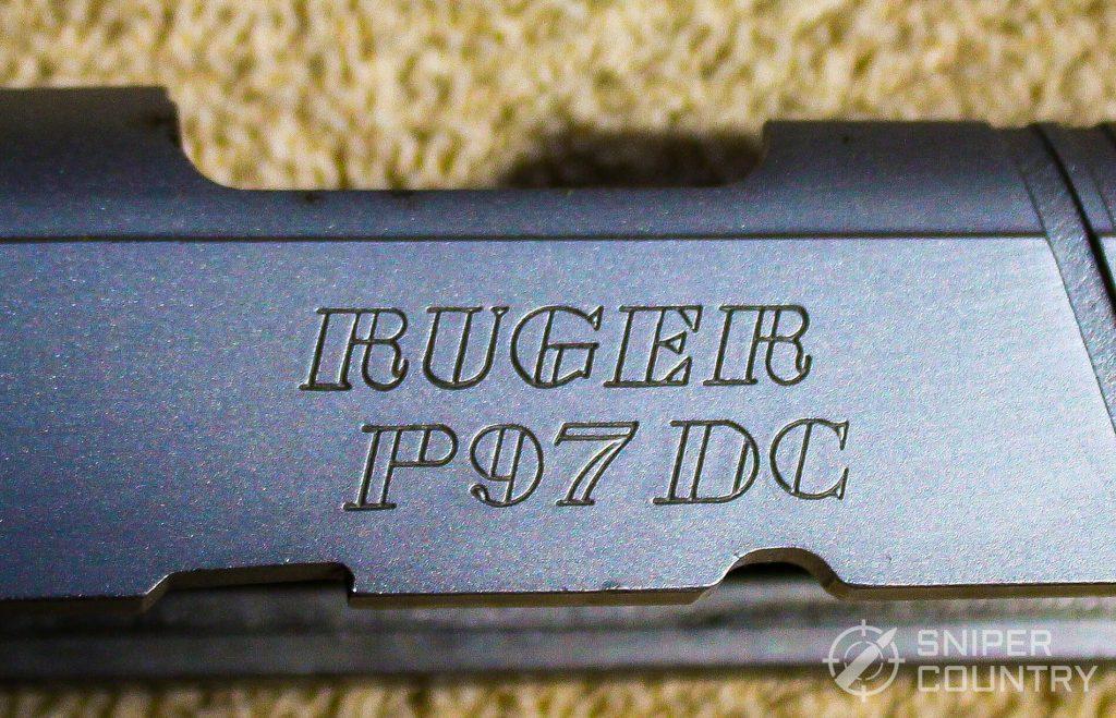 Ruger P97 logo engraving