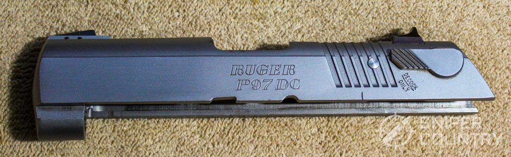 Ruger P97 slide left side
