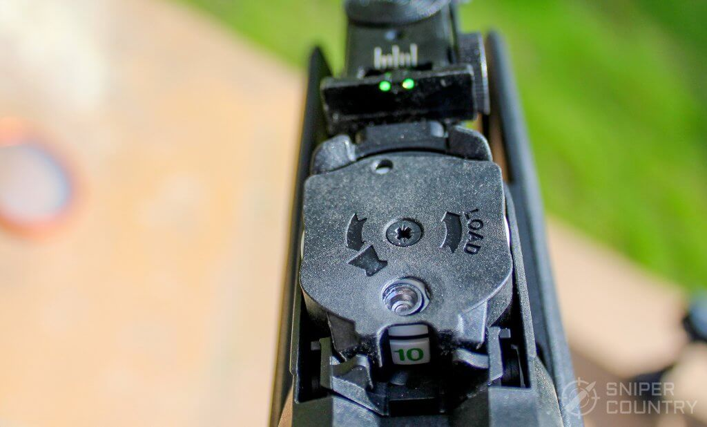 GAMO Swarm Fusion 10X GEN2 mag numbers rear sight