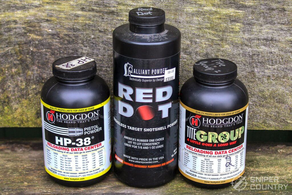 HP38, reddot and titegroup powder