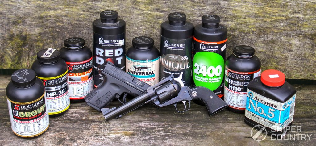 Selection of handgun powders