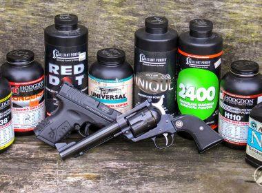 Selection of handgun powders