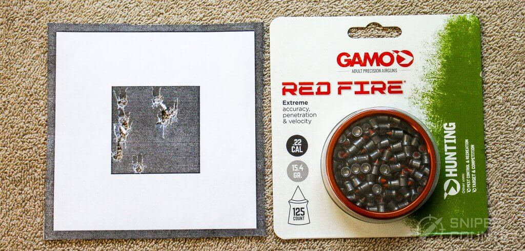 target and red fire pellets