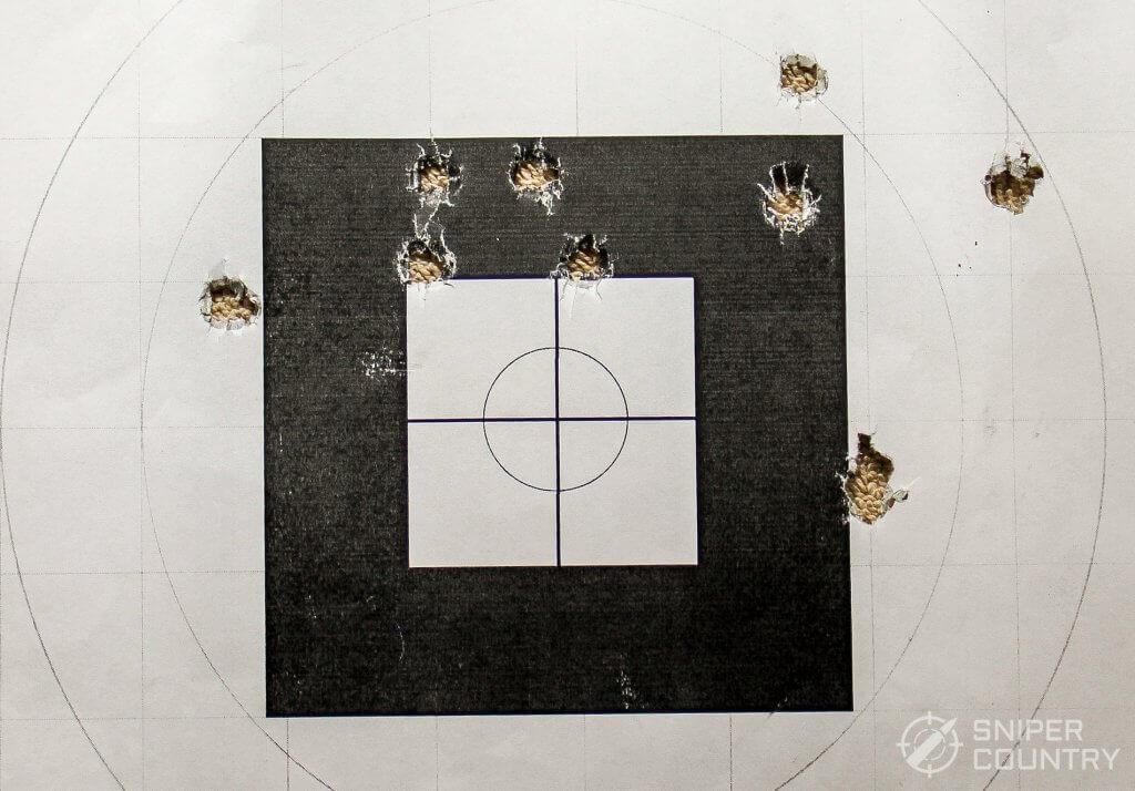 target shot with blazer
