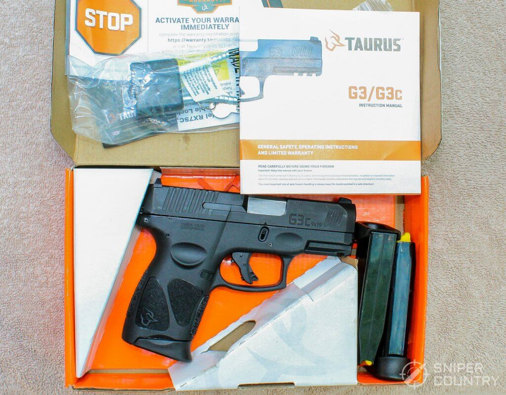 Taurus G3c box contents