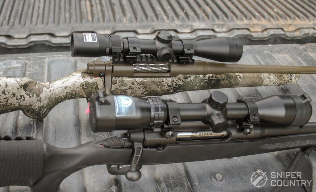 scopes on the Savage Axis II XP and the Mossberg Predator