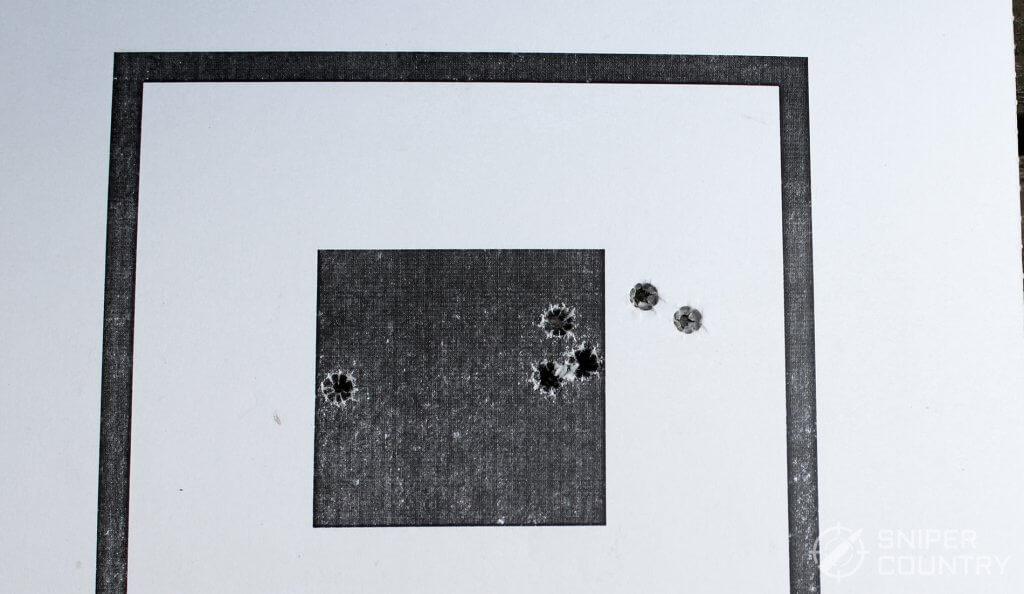 target shot with Ruger-57