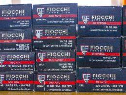 Fiocchi Ammo boxes