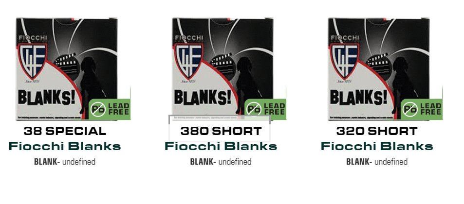 Fiocchi blanks