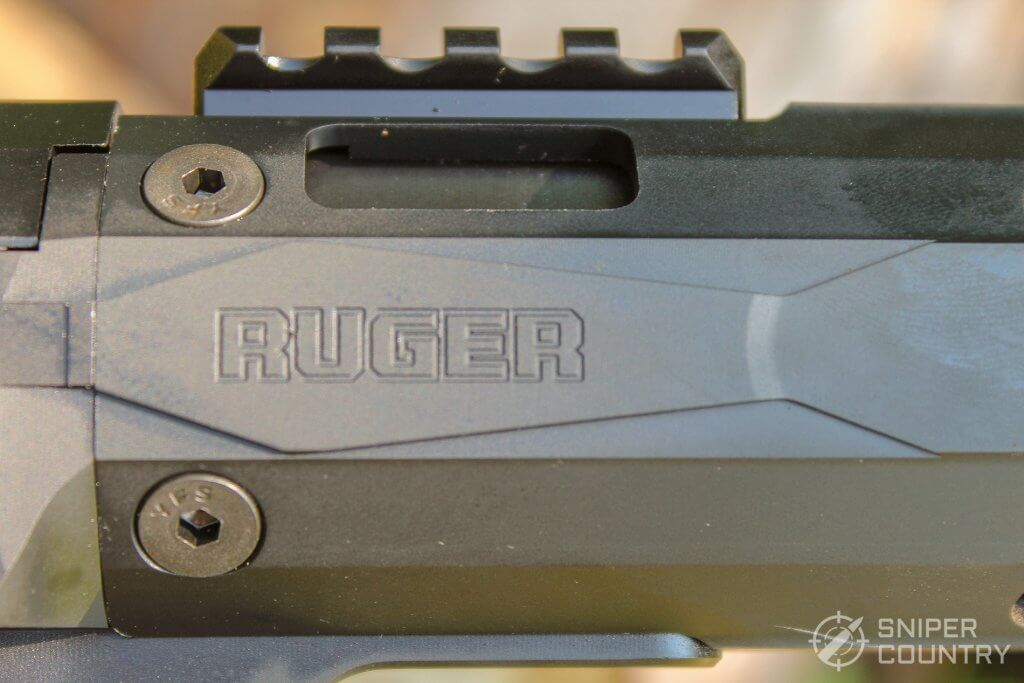 Ruger PC Carbine 9mm ejection port engraving