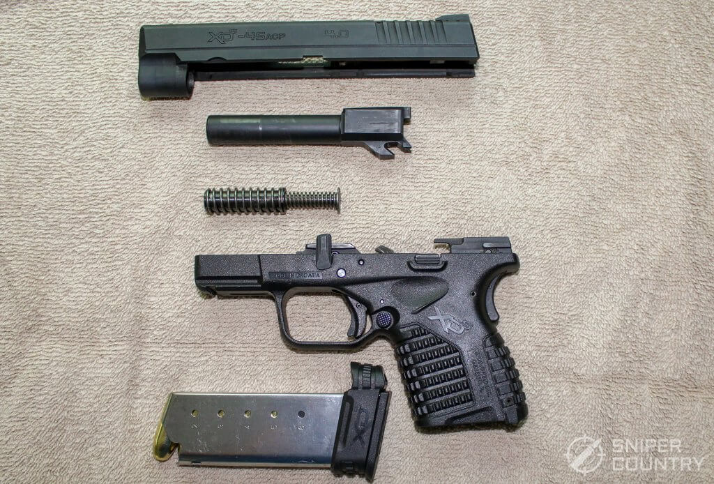 Springfield XDS 4.0 field stripped