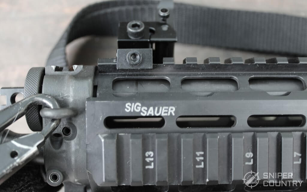rail on the Sig Sauer P556