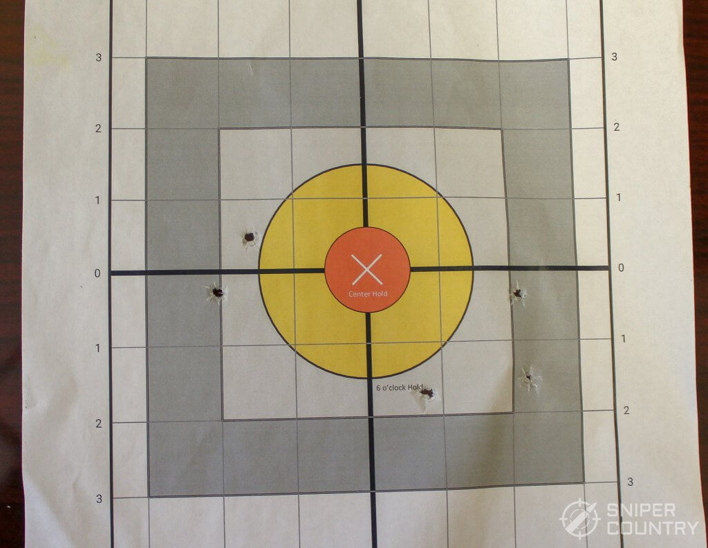 target winchester shot with LCP 2