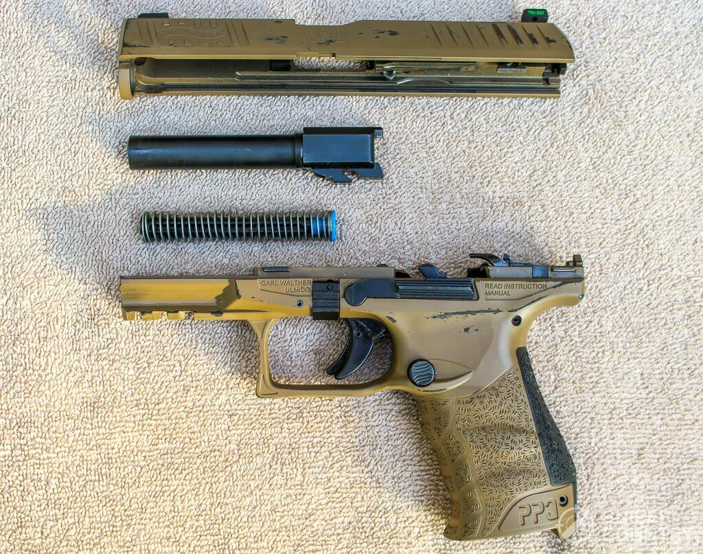 Field stripped Walther PPQ M2