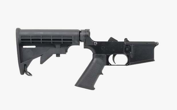 PSA AR-15 Complete Classic Stealth Lower right profile
