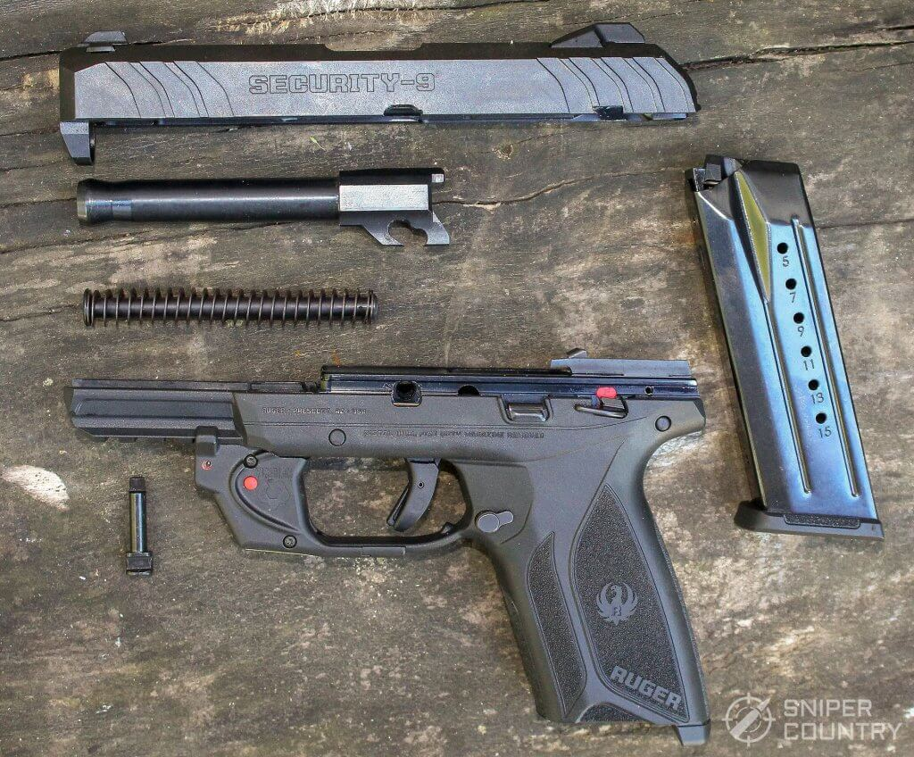 Ruger Security-9 field stripped