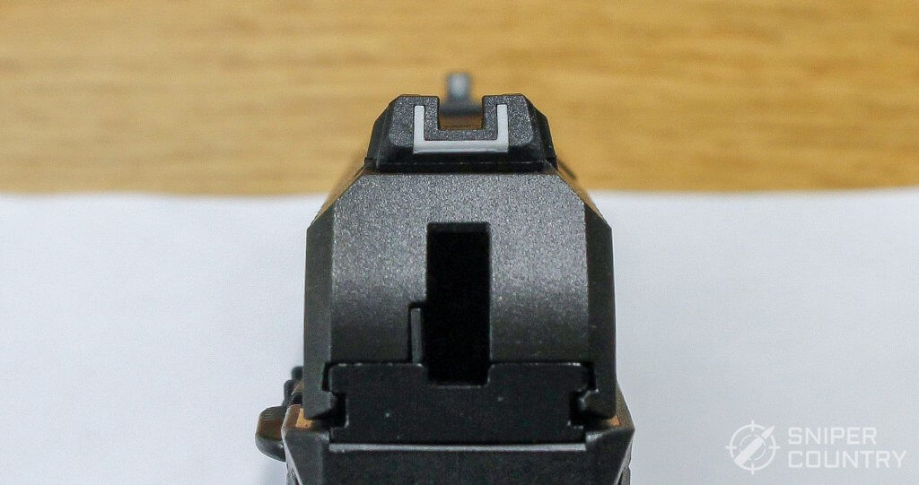 Ruger Security-9 rear sight