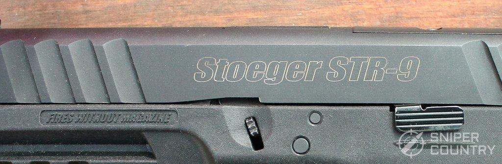 Stoeger STR-9 slide engraving