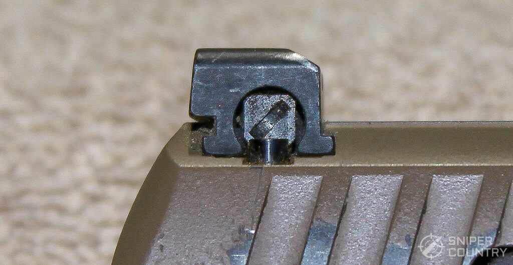 Walther PPQ M2 rear sight side