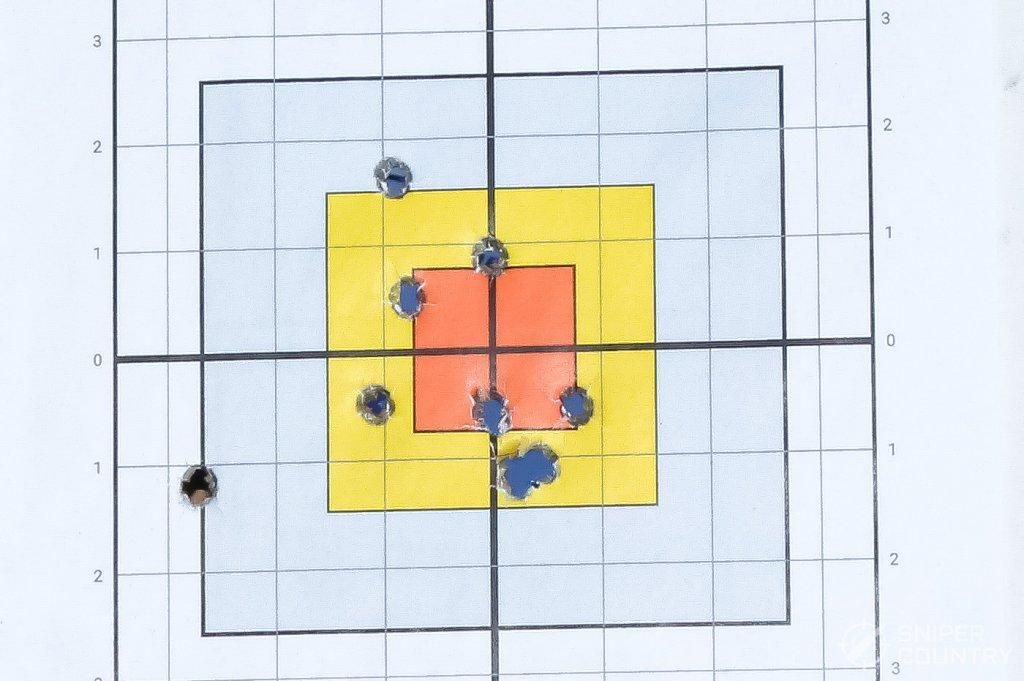 target shot with handload