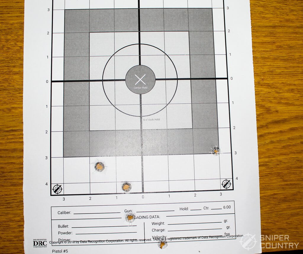 target shot with winchester by security 9