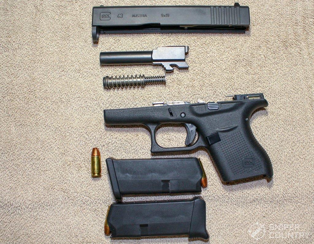 Glock 43 field stripped
