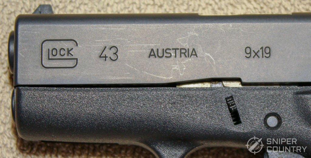 Glock 43 slide branding