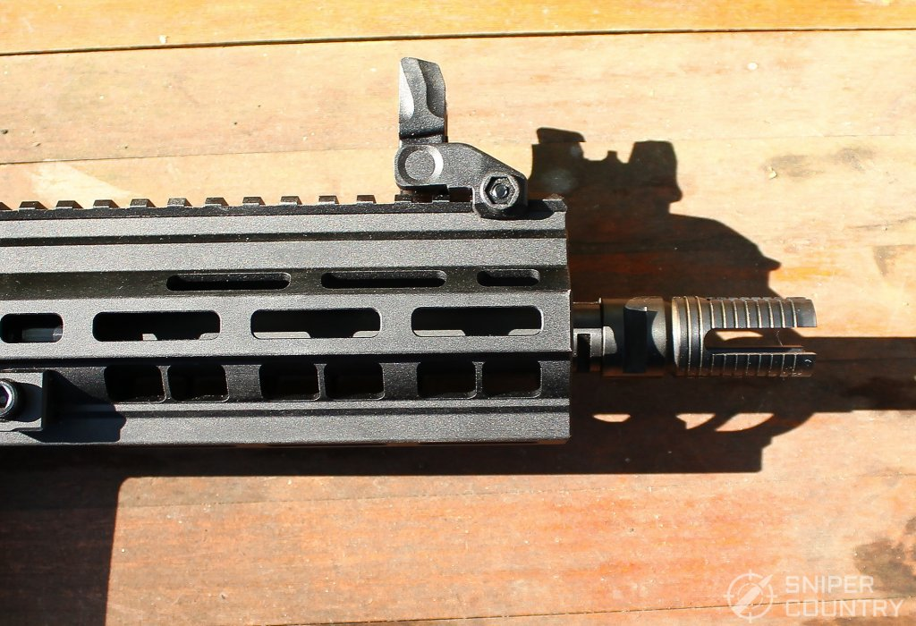 HK416 front sight side