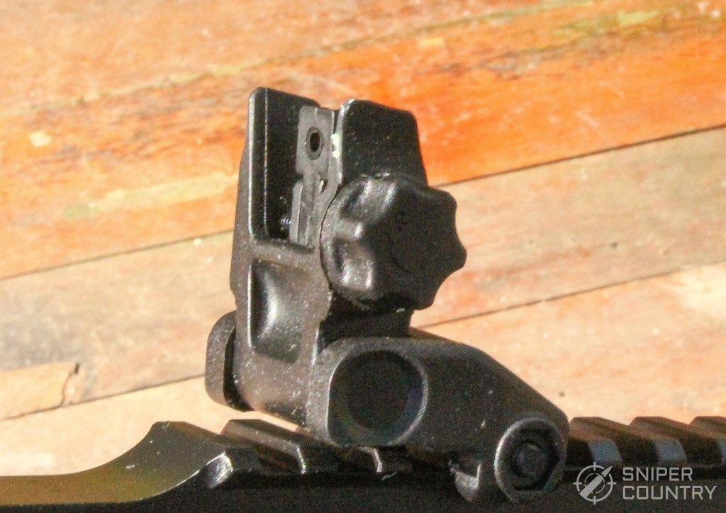 HK416 rear sight side
