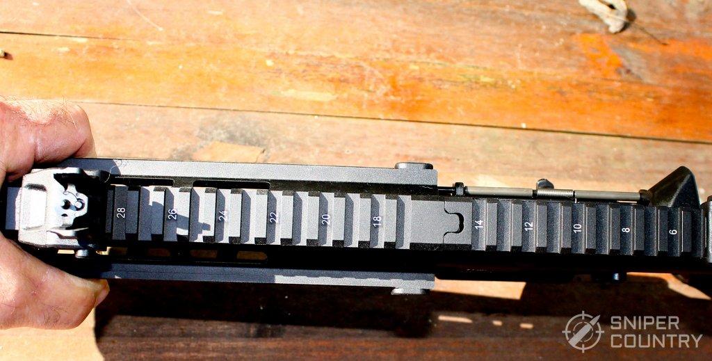 Picatinny rail on the HK416