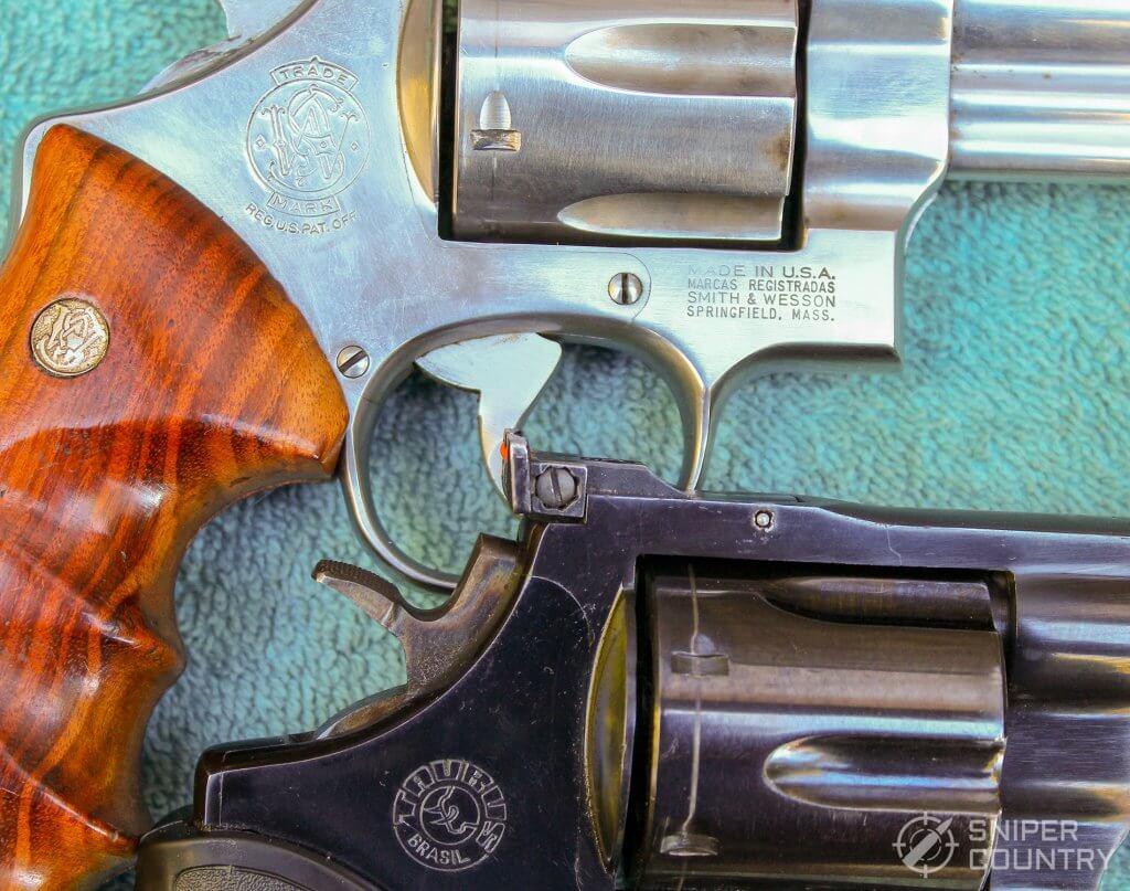 Taurus 44 and S&W branding