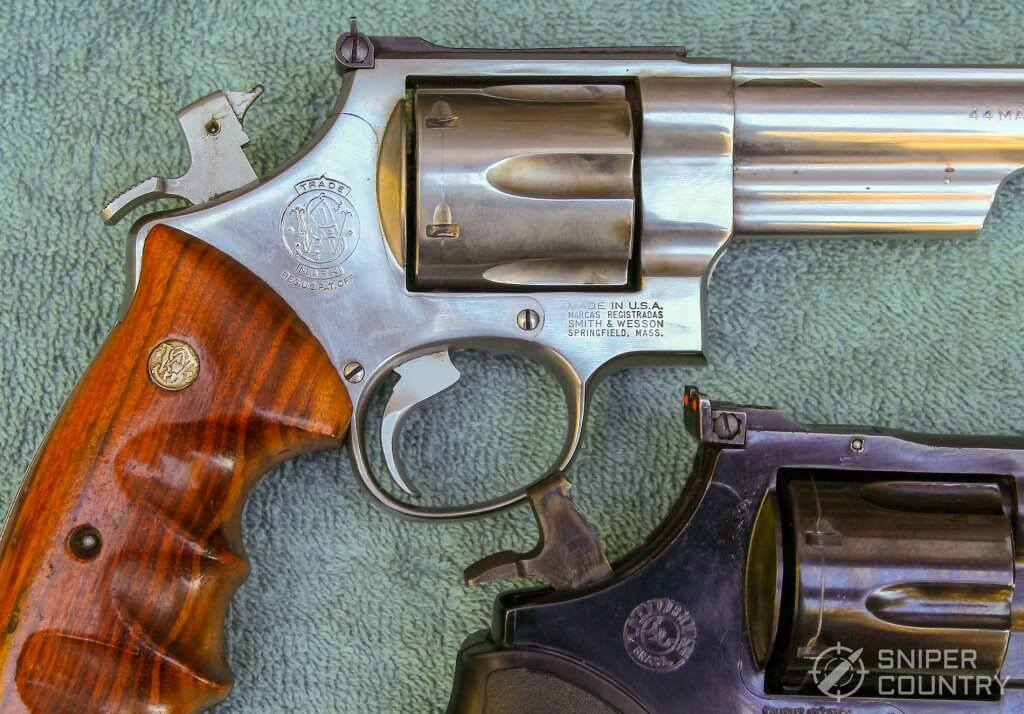 Taurus 44 and S&W hammers cocked