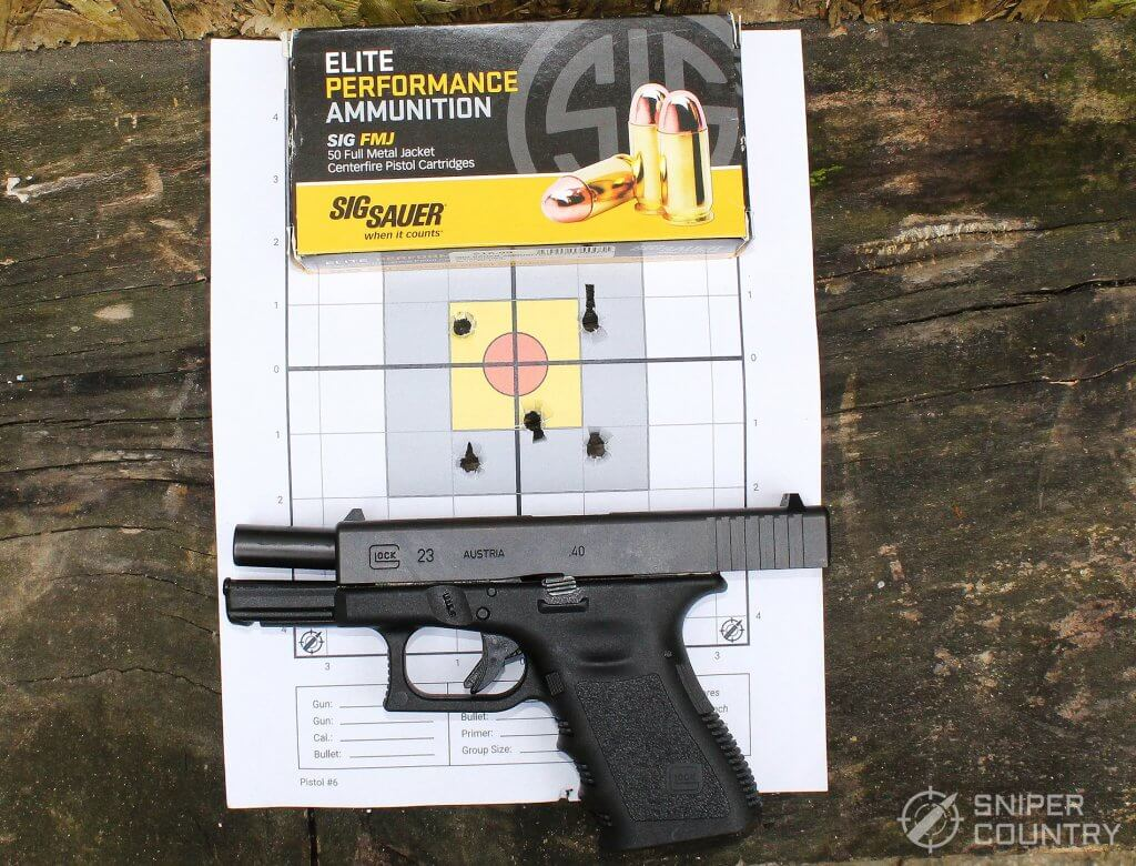 target and Glock 23