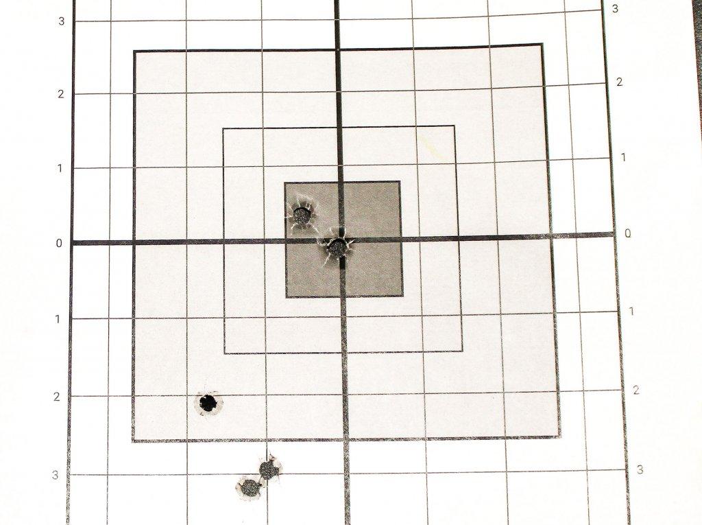 target shot with JHP