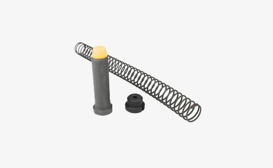Angstadt Arms AR-15 9mm Carbine Buffer Assembly Kit disassembled