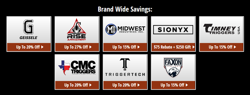 Brownells Black Friday Brands