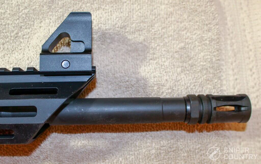 Mossberg MMR front sight and muzzle brake