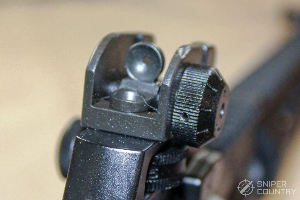 Mossberg MMR rear sight aperture