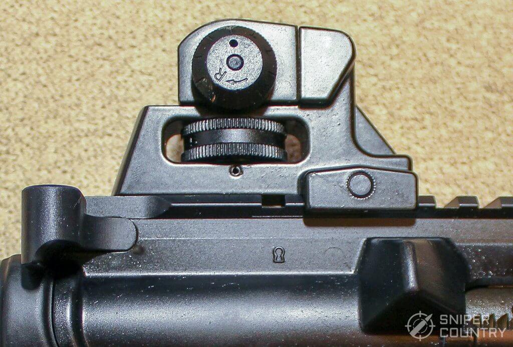 Mossberg MMR rear sight side