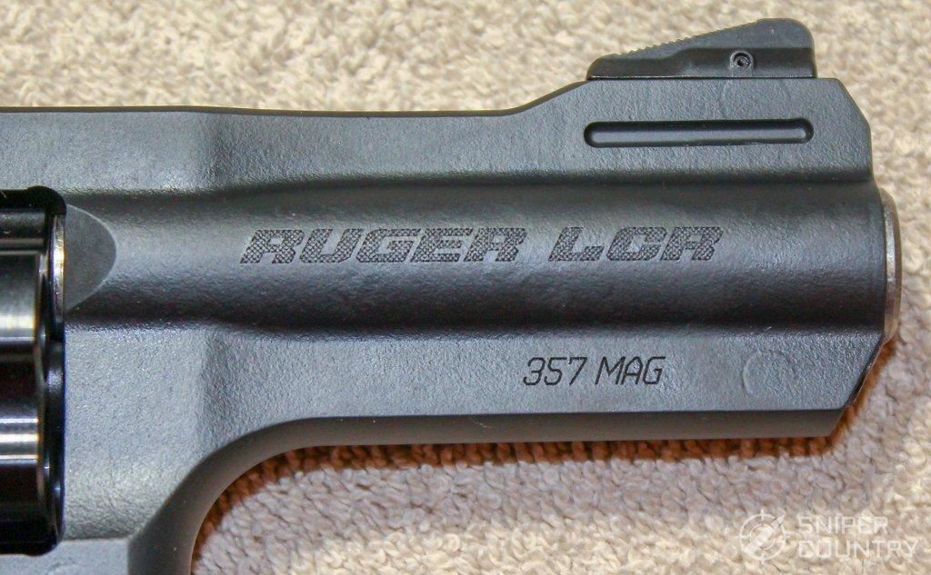 Ruger LCRx .357 barrel branding