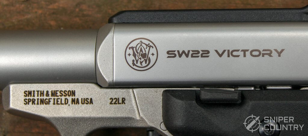 Smith & Wesson SW22 Victory frame branding