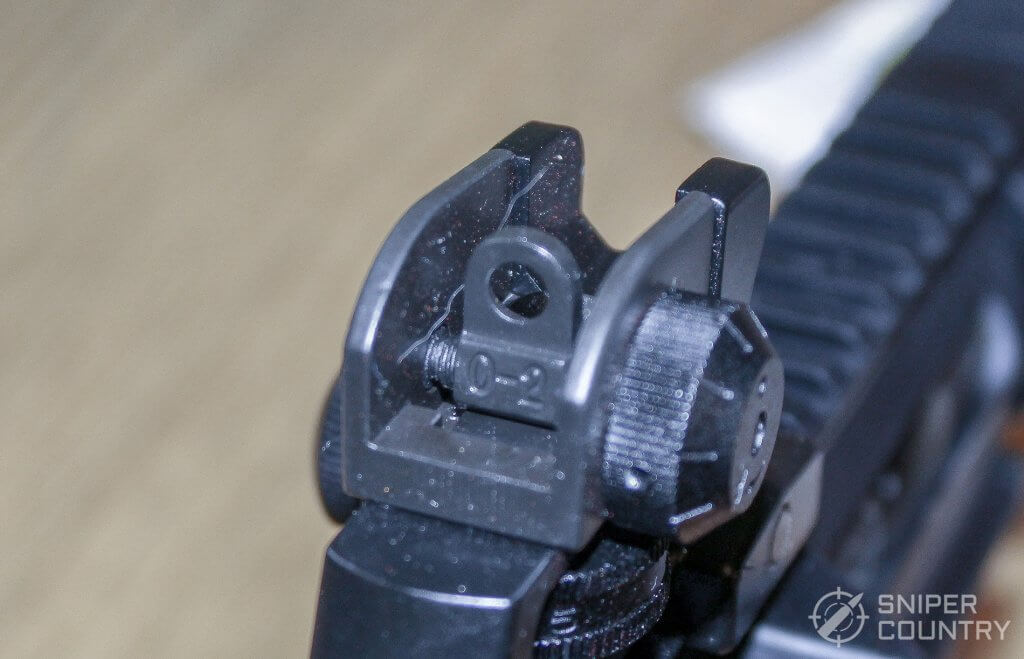 large sight aperture of the Mossberg MMR