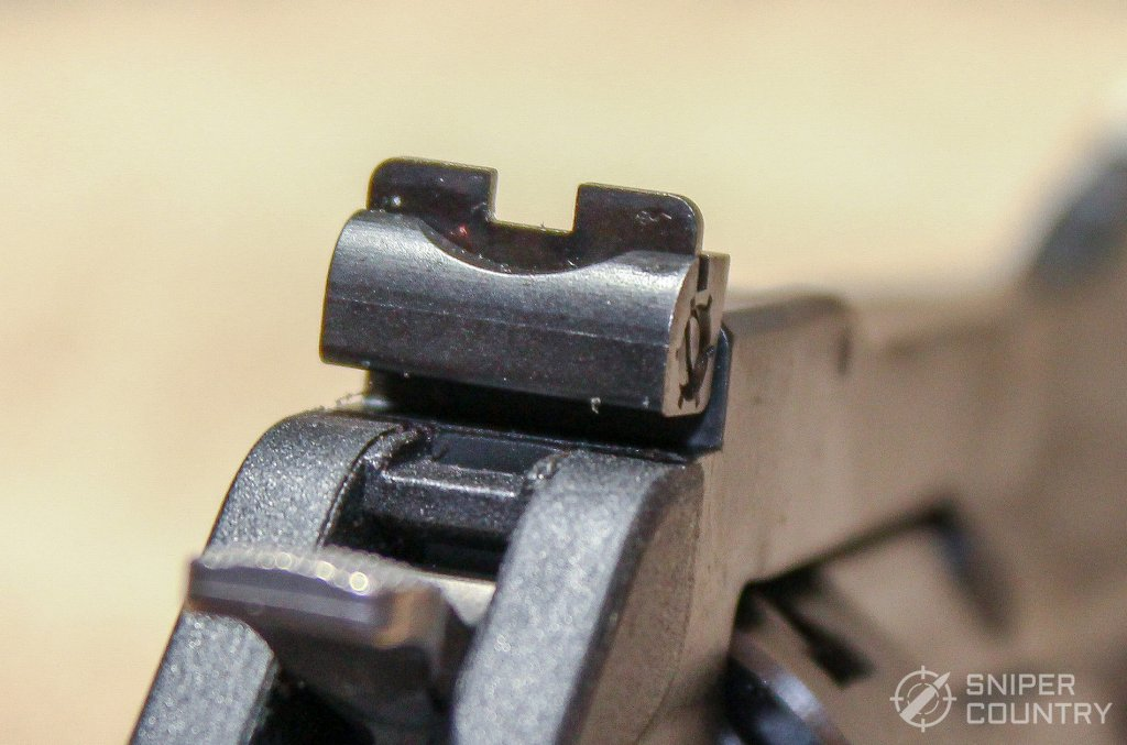 rear sight of the Ruger LCRx