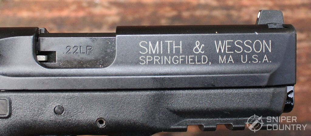 slide branding on the Smith & Wesson M&P 22 Compact