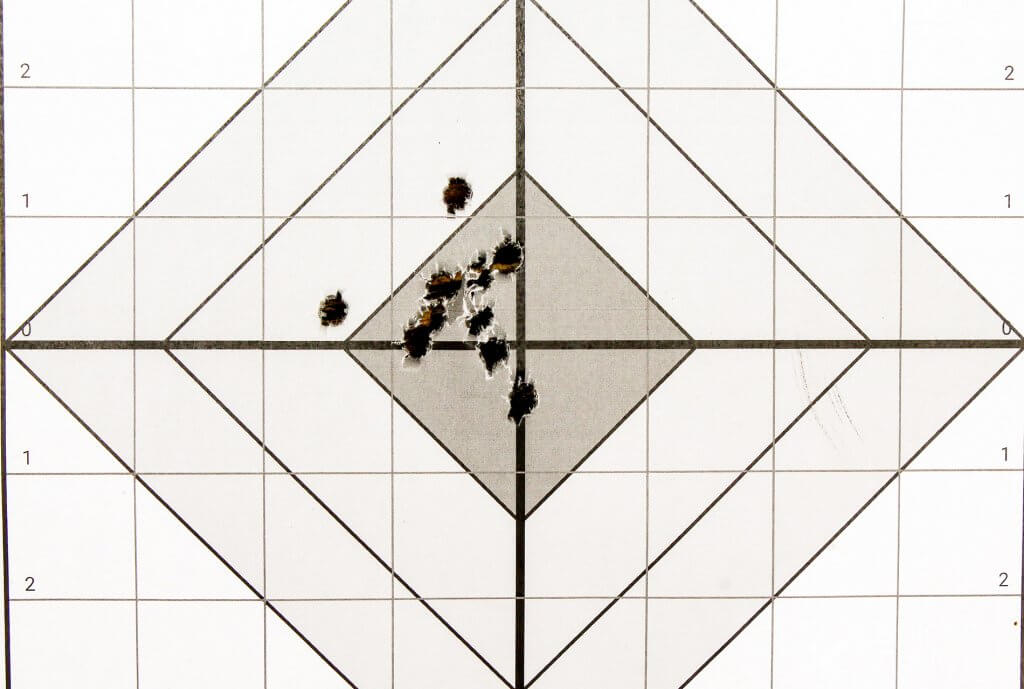 target shot with MMR carbine