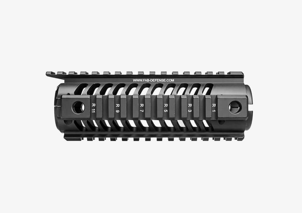 FAB Defense M16 Carbine Length Aluminum Quad Rail close-up