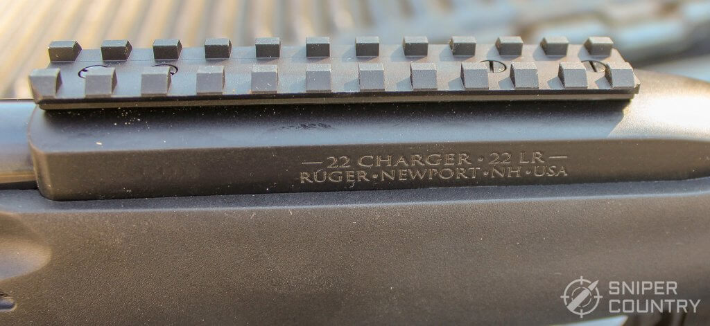 Ruger 22 Charger more barrel engraving and picatinny rail