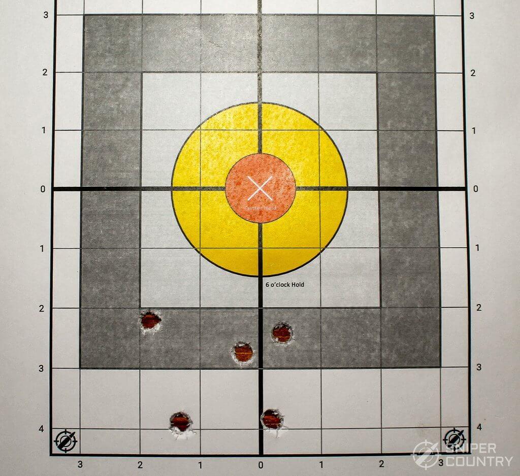 target shot with 38spl