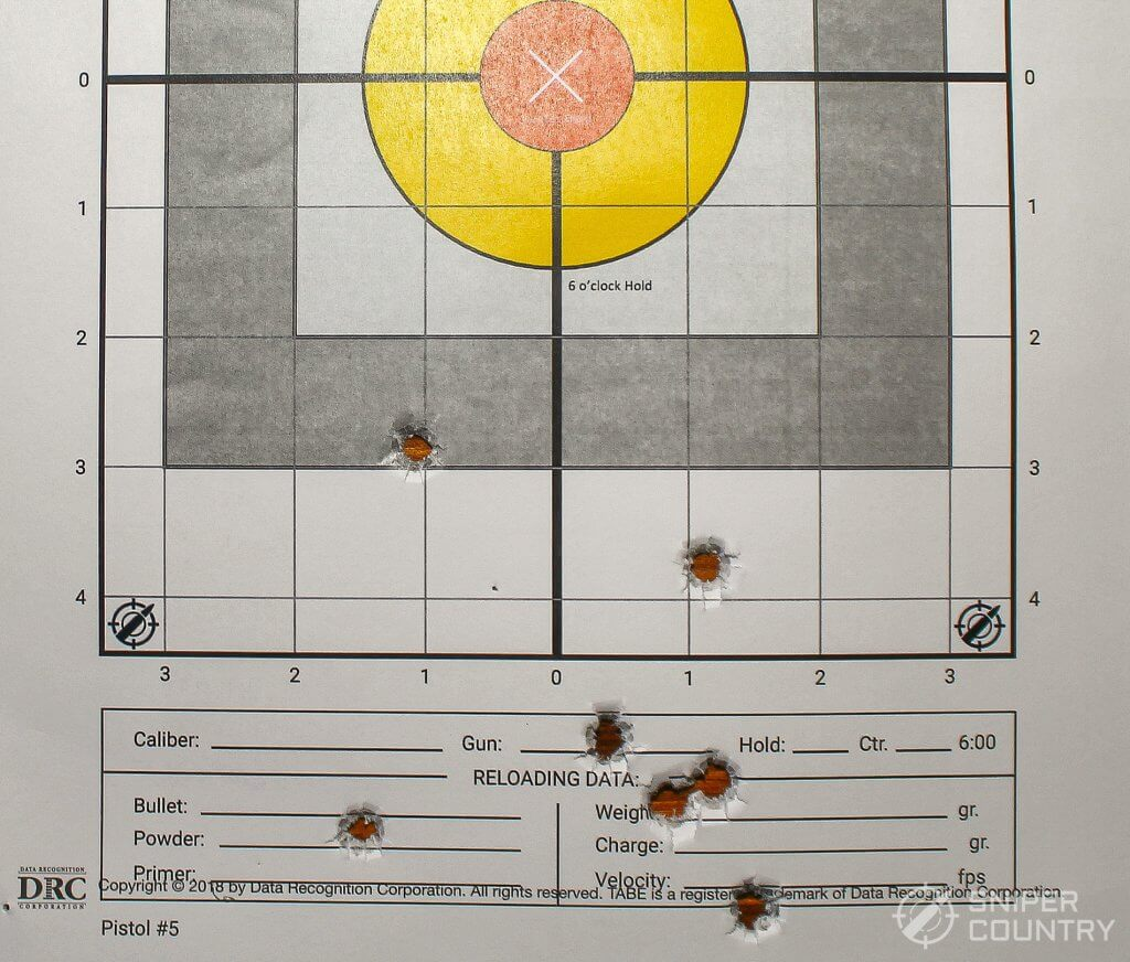 target shot with 9mm