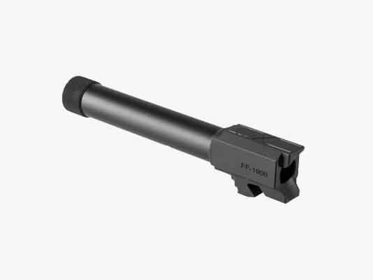Faxon Firearms Threaded Glock 19 Barrel feeding ramp
